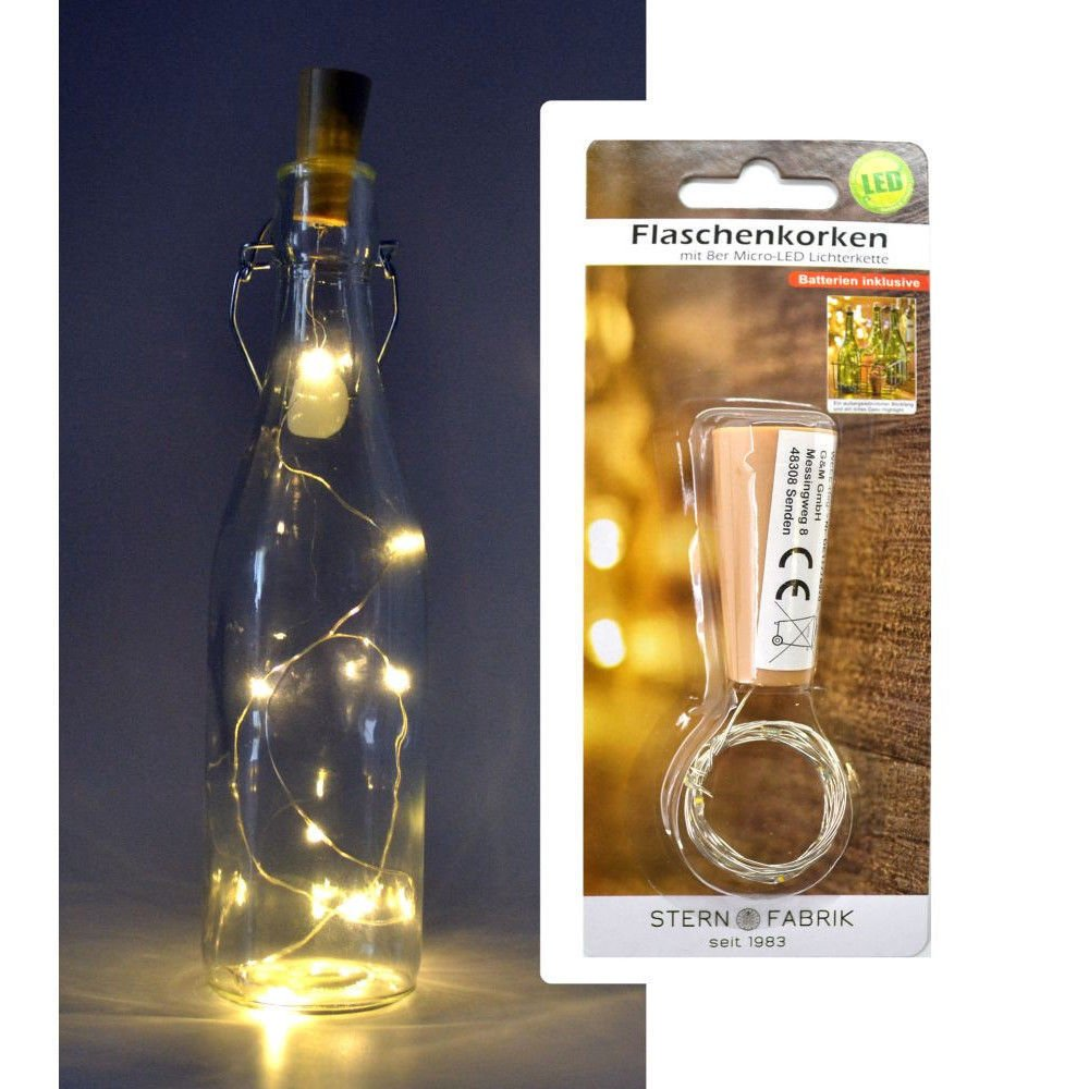 Bottle cork with an 8 micro-LED light string