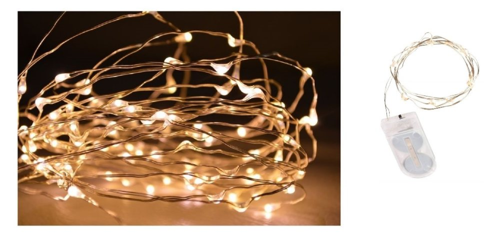 10 micro-LED wire lighting, warm white